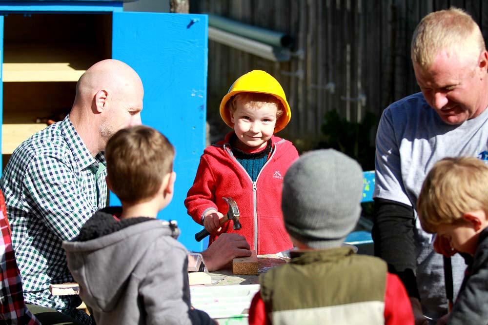 Jason gardiner team with the kids